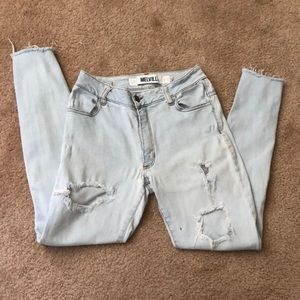 Brandy Melville High wasted Distressed Jeans